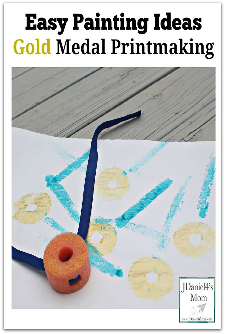 Easy Painting Ideas- Gold Medal Printmaking : This would be fun to do with children in the days leading up to the Olympic games.