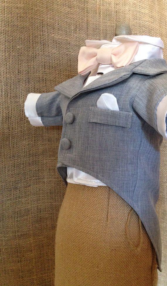 Grey Dog Tuxedo and Satin Shirt custom tuxedo by YvettesLittleShop