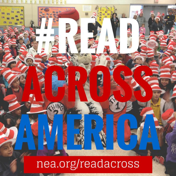 """""""Read Across America Day is only 10 days away! Make sure to use the hashtag #ReadAcrossAmerica !!"""""""