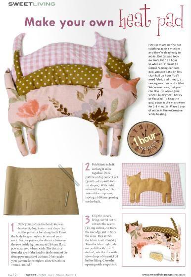 cute fabric cat diy tutorial