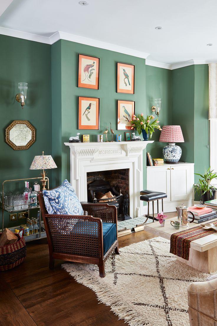 Townhouse Living Room Design: 20 Green Living Room Design Ideas