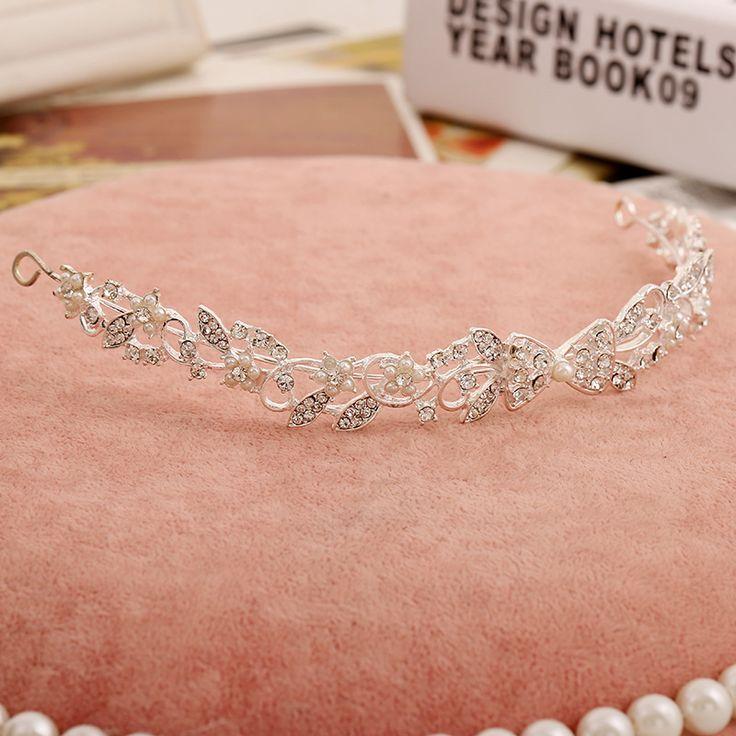 Иу ювелирных изделий невесты Корейский Цветок Жемчужина Тиара невесты свадебные аксессуары цепь свадебные мягкие волосы