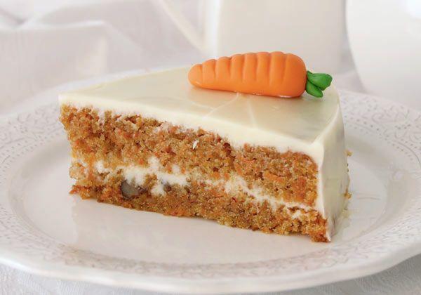 Tarta de zanahoria con crema de queso