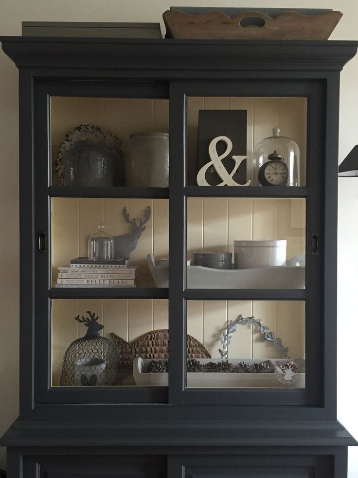 Best 25 black hutch ideas on pinterest hutch display for Living room hutch