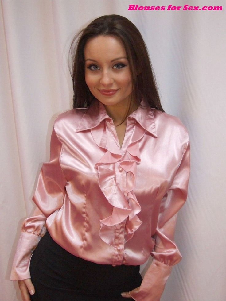 Pin by Marcus on Blouse - Orange, Pink and Red | Satin ...