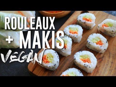 Makis et Rouleaux de printemps | VEGAN - YouTube
