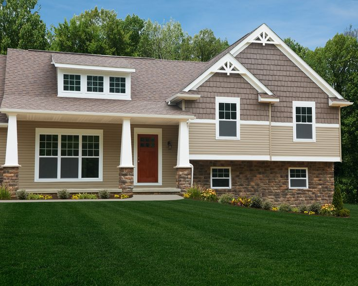 52 best images about home exterior on pinterest house for Craftsman style split level homes