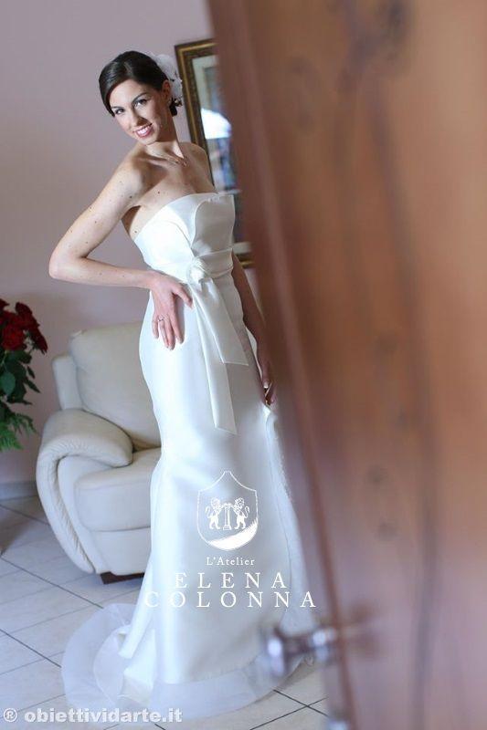 Abiti sposa Napoli. Moda sposa 2016. L'abito stile sirena interpretato da L'Atelier Elena Colonna #abitisposanapoli