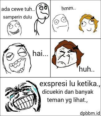 Meme lucu Ekspresi Ketika Dicuekin
