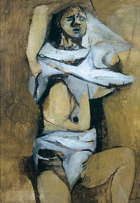 Figure Undressing c. 1947 by Keith Vaughan (English 1912-1977)