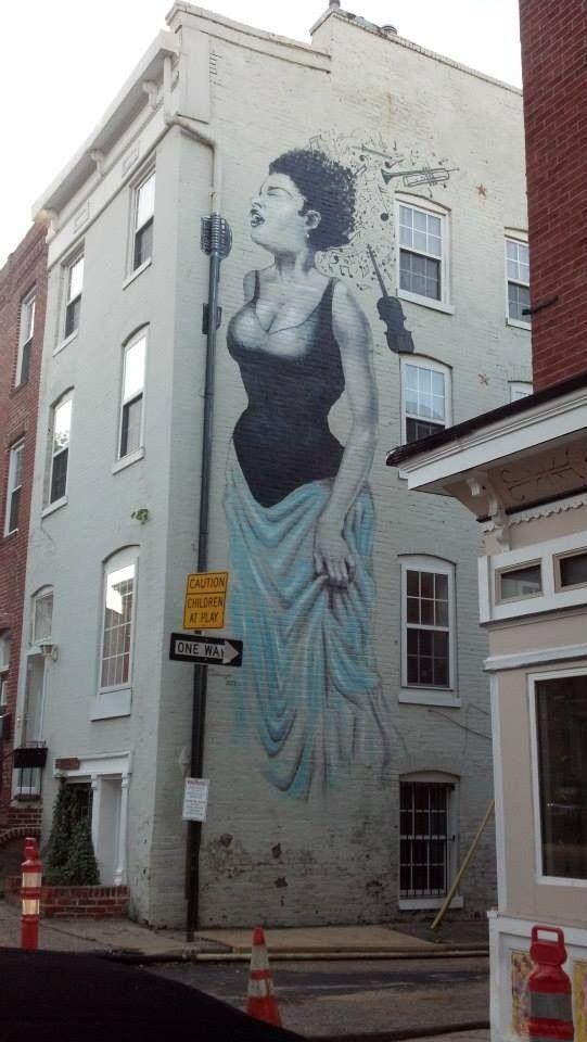 Billie Holiday mural. Baltimore.
