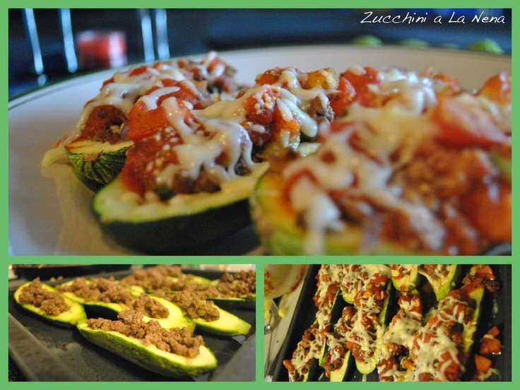 Just tried making stuffed zucchini for the first time.. delicious ...