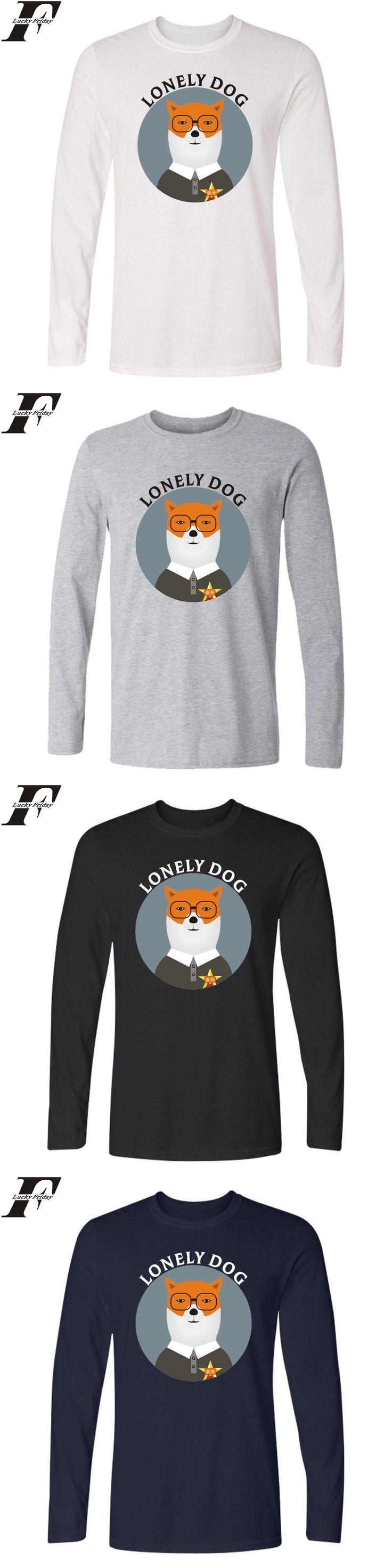 Spring Cotton camiseta masculina Funny t shirts Print T-shirt fitness Lovely Dog Creative long sleeve Tee Shirt men clothing 4xl