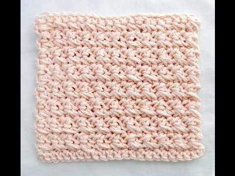 Learn a Stitch Washcloth #5: Crossed Single Crochet (This will lead you to stitches 1-4. You can re-size the pattern to make cowls, scarfs, baby blankets, throws or afghans... Deb)
