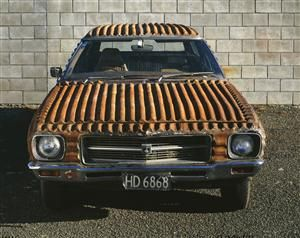 Aussie/NZ icon revisited:  Corrugated iron Holden station wagon (1991) by Jeff Thomson - Collections Online - Museum of New Zealand Te Papa Tongarewa