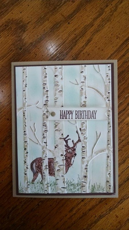 Woodland Noble Deer Masculine Birthday by PATT44 - Cards and Paper Crafts at Splitcoaststampers