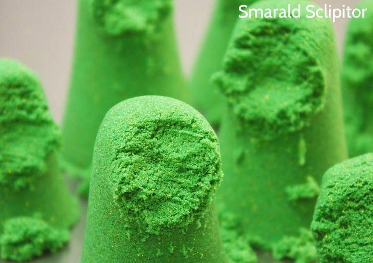 Nisip Kinetic -- Smarald Sclipitor 454g | Smuff — Magazinul de traznai
