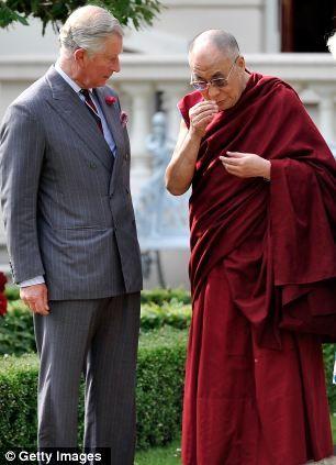 Prince Charles with the Dalai Lama