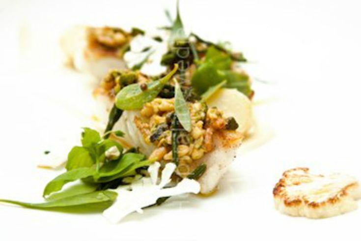 Line Caught Turbot with Cauliflower Puree recipe by professional chef Shaun Rankin