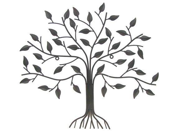 Mahogany metal tree wall decoration
