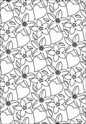 Hearts and Flowers Pattern Dibujo para colorear