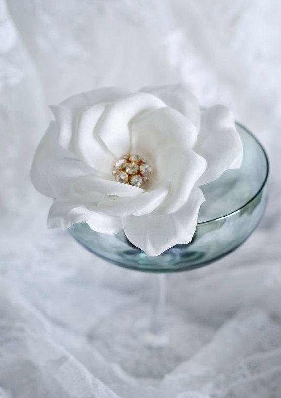 Crystal Rose - Bridal Headpiece - Hair Flowers - Hair Jewelry - Vintage Hair Accessories  - Wedding Headpieces - Hair Clip- Brudehår Pynt