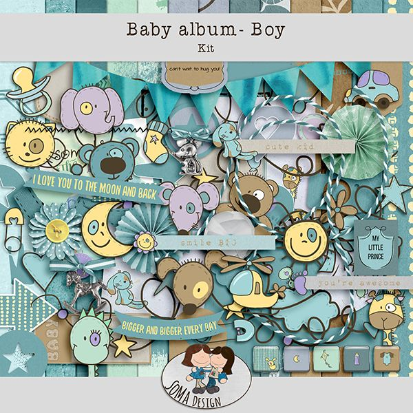 SoMa Design: Baby album - Boy - Kit