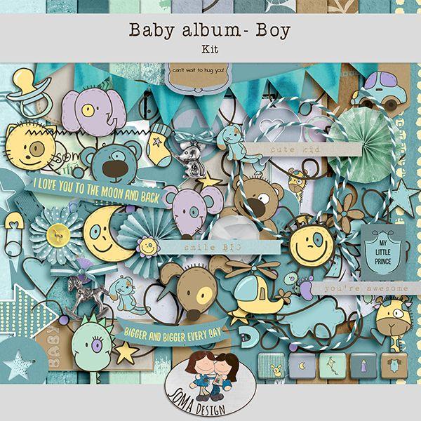 SoMa Design: Baby album - Boy - Kit