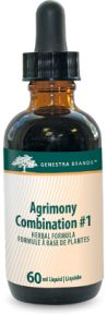 Agrimony Combination #1 by Genestra. Agrimony Combination #1 provides a combination of Agrimony and synergistic herbs in a convenient liquid format.