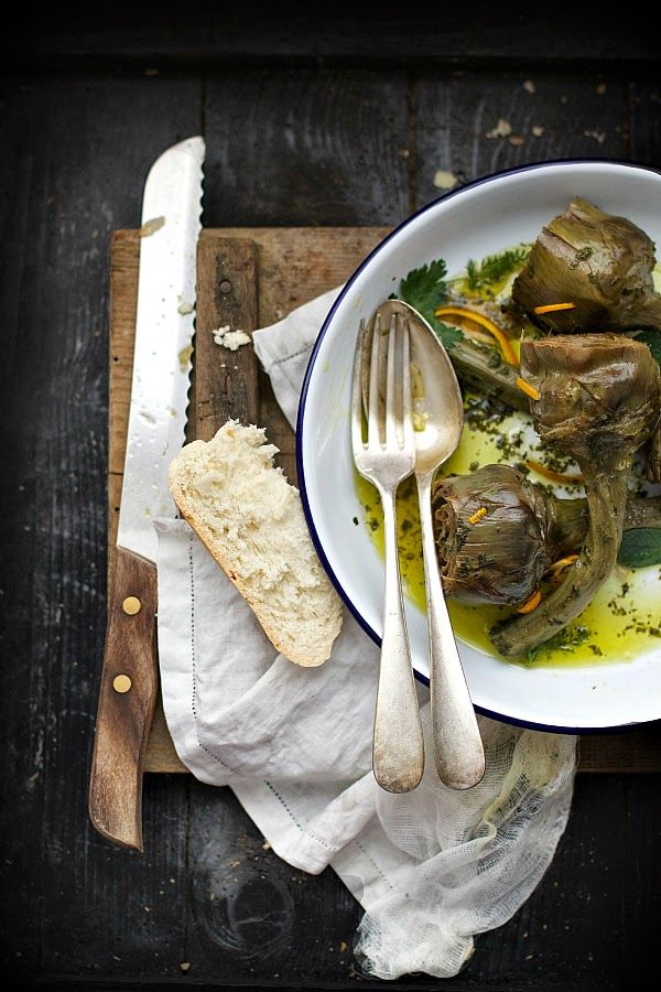 Smiles Beauty and More: Carciofi stufati con menta e arancia