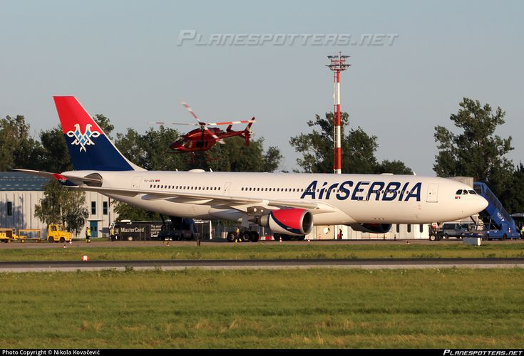Air Serbia Airbus A330-202 YU-ARA aircraft, parked at Croatia Zagreb Franjo Tudjman International Airport. 15/06/2016.