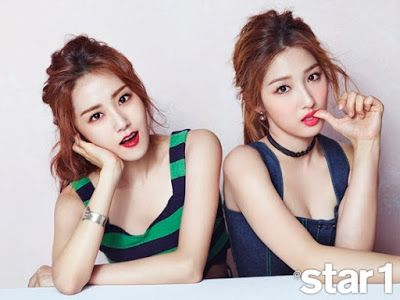 Gayoon and Jihyun 4minute - Star1 Magazine August Issue 2015