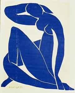 "Matisse, Blue Nude (1907) ""Papel decoupage"""