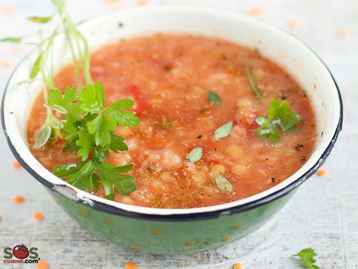 SOSCuisine: Soupe épicée aux lentilles rouges