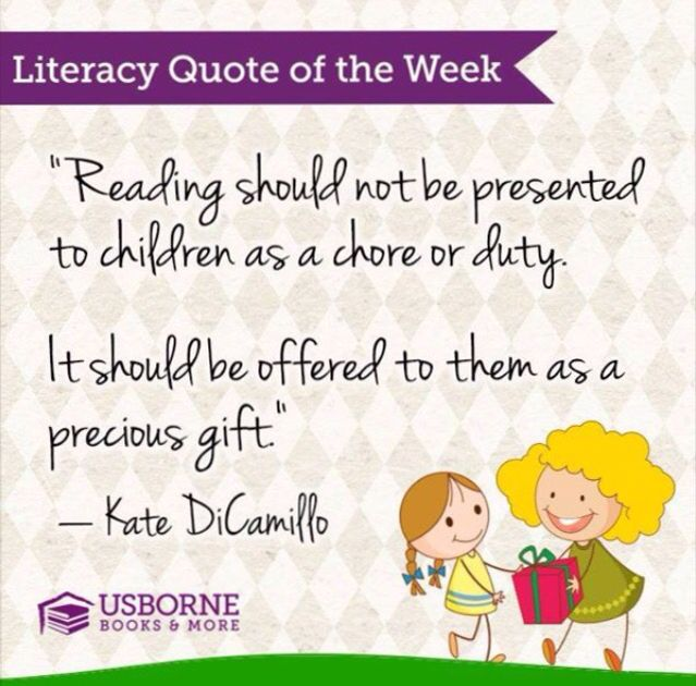 Literacy Quote by Usborne Books and More www.myubam.com/c4269