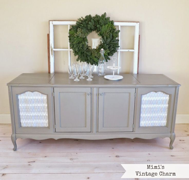 Mimi's Vintage Charm: French Linen Cabinet With Chicken Wire. Before And After Photos Of This