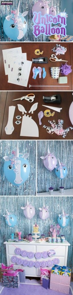 Balloon Unicorn DIY with free printable