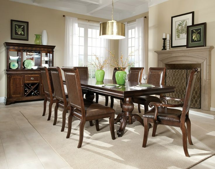 Emby Hall 7 Piece Set With Arm Chairs Tuscan Kitchen Dining