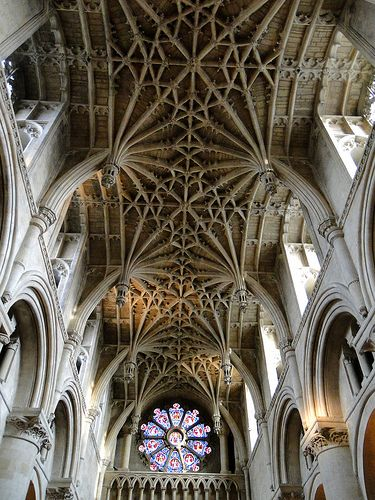 Christ Church Cathedral, Oxford. Ribbed vaults of gothic architecture