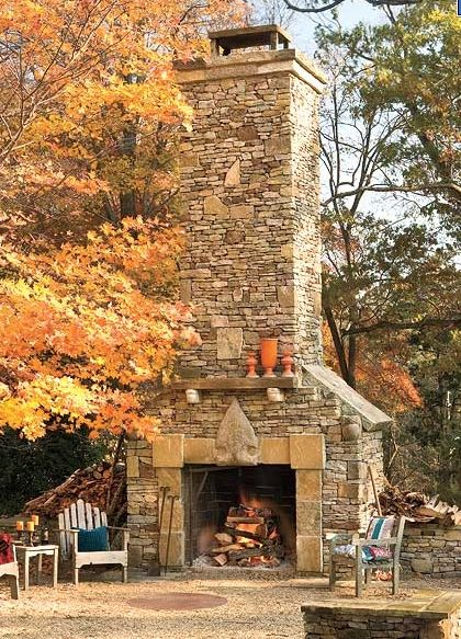 Stones Fireplaces, Dreams, Outdoor Living, Outdoor Fireplaces, Mountain Homes, Fireplaces Outdoor, Outdoor Spaces, Stone Fireplaces, Backyards