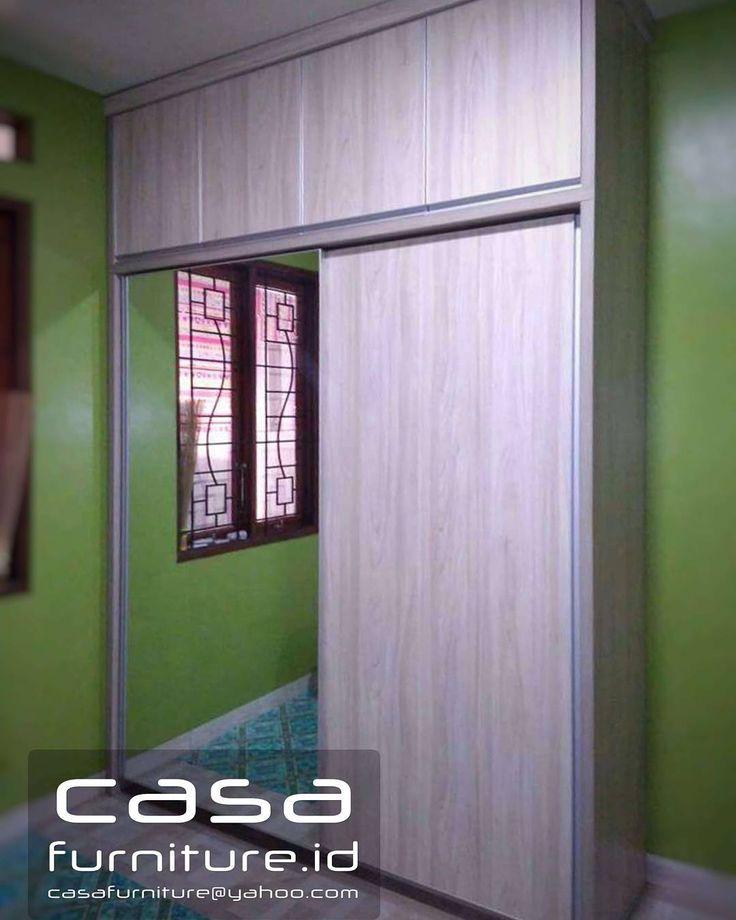 "255 Suka, 6 Komentar - KITCHEN SET,LEMARI MINIMALIS (@casafurniture.id) di Instagram: ""Lemari pakaian Minimalis @perum amarapura BSD  #lemari #wardrobe #furniture #bsd #tangerang…"""
