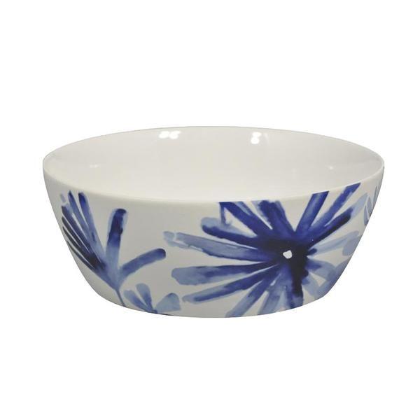 Blue Flower Bowl (24.5cm)