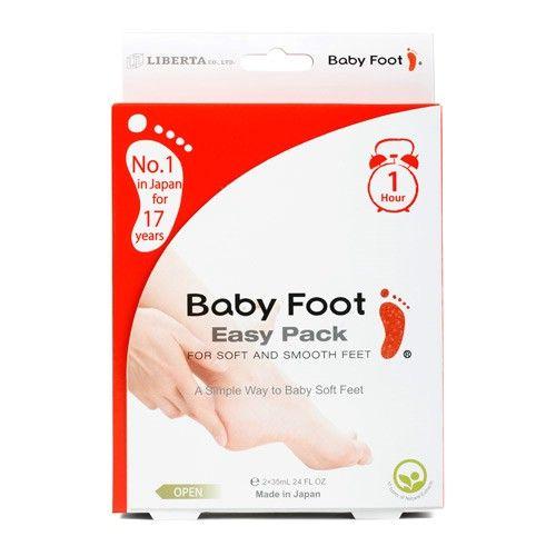 Baby Foot er en hjemme fodbehandling, hvor huden ganske naturligt stimuleres til at afstøde de døde, hårde og tørre hudceller.  Baby Foot indeholder 17 naturlige ekstrakter, med frugtsyre som den vigtigste. Frugtsyren stimulerer cellefornyelsen i huden og giver ekstra fugt.  Af andre ekstrakter kan der nævnes; lakridsrod, kamilleblomst, grøn the, salvie, og blæretang. Baby Foot er selvfølgelig uden parabener.