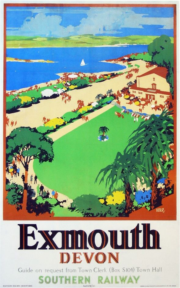 Exmouth, Southern Railway poster