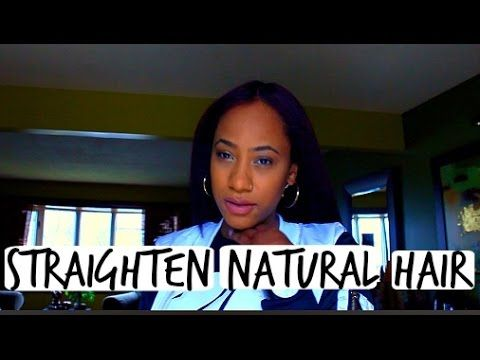 How To| Straighten Natural Curly Hair - YouTube