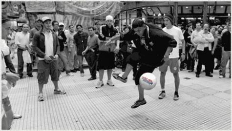 Freestyle, fútbol de malabares