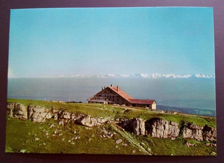 Vintage Switzerland Swiss Hotel Du Chasseral Postcard