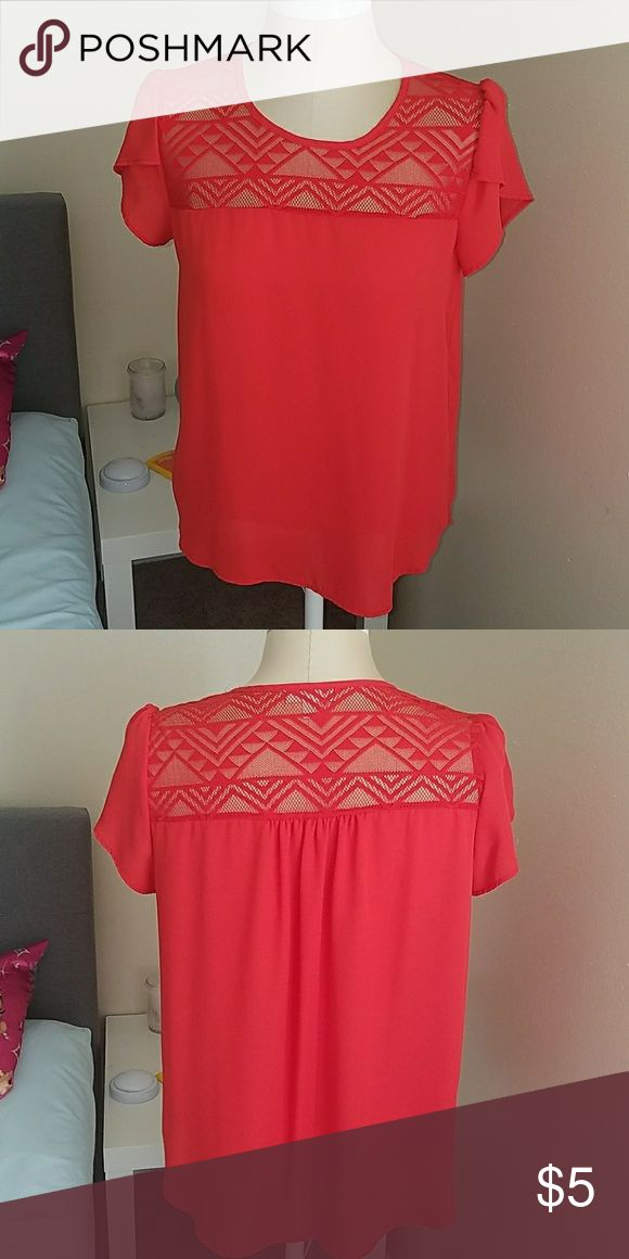 Orange dress shirt Barely worn. Excellent used condition. meraki Tops