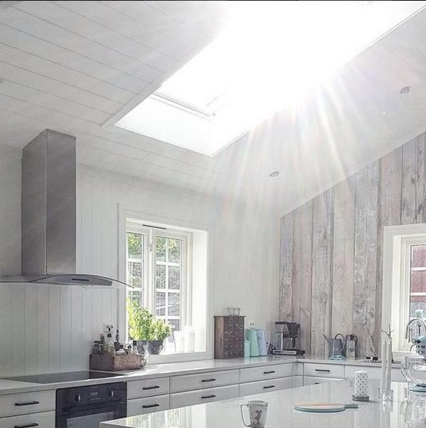 Naturlig dagslys til hele kjøkkenet