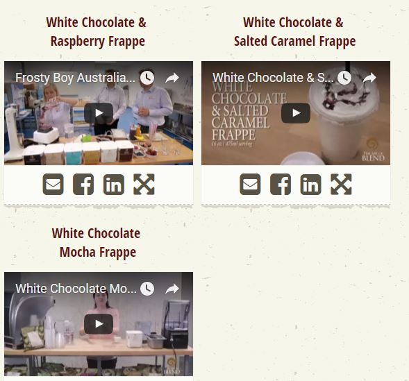 Australia's Chocolate Powder Wholesalers brought informative videos for Exquisite White Chocolate as well as other beverage bases. Using these videos everyone can easily make beverages at home. They also provides recipe book for extra help.